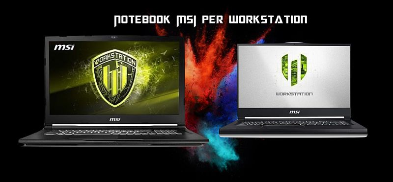 Notebook MSI per workstation